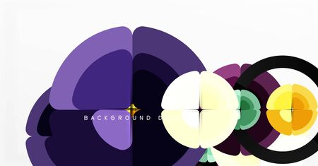 Abstract background, trendy color circles geometrical composition. Vector Illustration For Wallpaper, Banner, Background, Card, Book Illustration, landing page 向量圖像