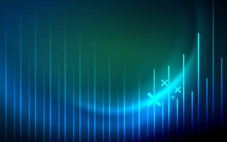 Abstract background - blue neon line design for Wallpaper, Banner, Background, Card, Book Illustration, landing page