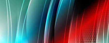 Shining glass abstract wave background. Dynamic motion line effect. Vector Illustration For Wallpaper, Banner, Background, Card, Book Illustration, landing page Vector Illustratie