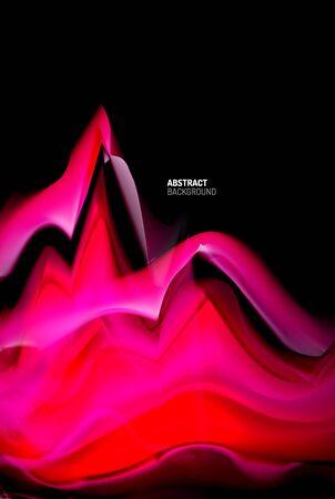 Fond abstrait de dégradés liquides, conception d'affiche de modèle de vague de couleur pour le papier peint, bannière, fond, carte, illustration de livre, page de destination Vecteurs