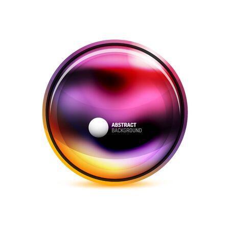 Bouton ou bannière de cercle pour le modèle de conception de texte. Concept abstrait ou bouton. Illustration vectorielle