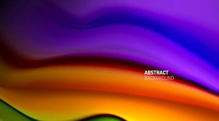Liquid colors fluid gradients on black background