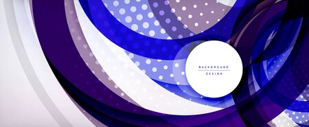 Trendy simple circle abstract background, dynamic motion concept. Vector Illustration For Wallpaper, Banner, Background, Card, Book Illustration, landing page Vecteurs
