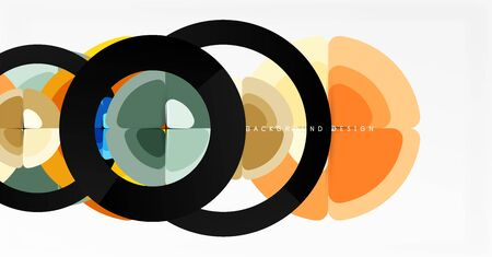 Abstract background, trendy color circles geometrical composition. Vector Illustration For Wallpaper, Banner, Background, Card, Book Illustration, landing page 스톡 콘텐츠 - 146384771
