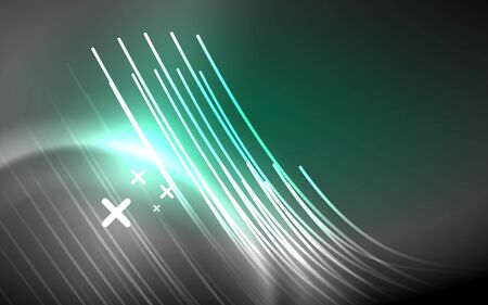 Abstract background - neon line design for Wallpaper, Banner, Background, Card, Book Illustration, landing page Çizim