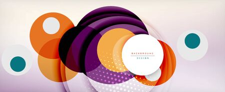 Trendy simple circle abstract background, dynamic motion concept. Vector Illustration For Wallpaper, Banner, Background, Card, Book Illustration, landing page 스톡 콘텐츠 - 146379418