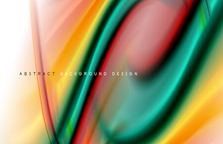 Abstract background - fluid color gradient waves, with dynamic motion line effect. Vector Illustration For Wallpaper, Banner, Background, Card, Book Illustration, landing page Vectores