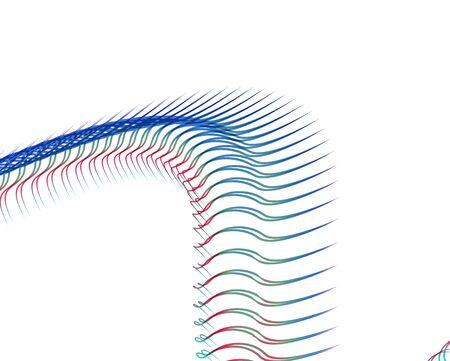 Abstract background blend wave line design for Wallpaper, Banner, Background, Card, Book Illustration, landing page
