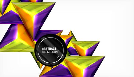 Triangle geometric vector abstract background