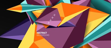 Trendy simple triangle abstract background, dynamic motion concept. Vector Illustration For Wallpaper, Banner, Background, Card, Book Illustration, landing page Vectores