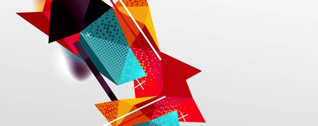 Abstract background - trendy low poly triangle shapes polygonal pattern. Vector Illustration For Wallpaper, Banner, Background, Card, Book Illustration, landing page