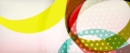 Trendy simple circle abstract background, dynamic motion concept. Vector Illustration For Wallpaper, Banner, Background, Card, Book Illustration, landing page Banque d'images - 146804927