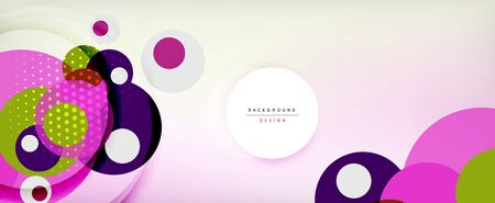 Trendy simple circle abstract background, dynamic motion concept. Vector Illustration For Wallpaper, Banner, Background, Card, Book Illustration, landing page
