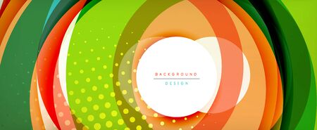 Trendy simple circle abstract background, dynamic motion concept. Vector Illustration For Wallpaper, Banner, Background, Card, Book Illustration, landing page Banque d'images - 146805489