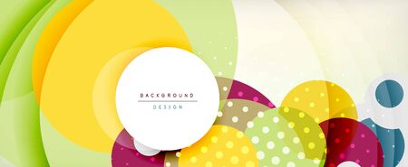 Trendy simple circle abstract background, dynamic motion concept. Vector Illustration For Wallpaper, Banner, Background, Card, Book Illustration, landing page Banque d'images - 146805493