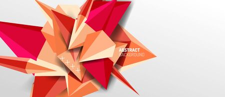 Trendy simple triangle abstract background, dynamic motion concept. Vector Illustration For Wallpaper, Banner, Background, Card, Book Illustration, landing page Banque d'images - 146805321