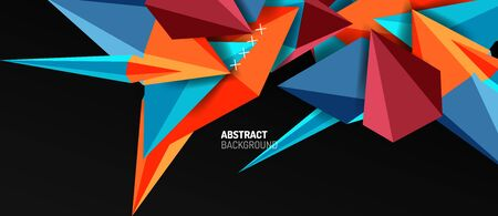 Trendy simple triangle abstract background, dynamic motion concept. Vector Illustration For Wallpaper, Banner, Background, Card, Book Illustration, landing page Banque d'images - 146805354