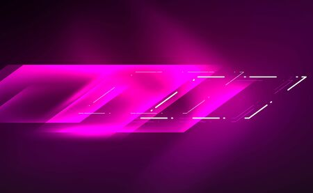 Dynamic neon shiny abstract background. Trendy abstract layout template for business or technology presentation, internet poster or web brochure cover, wallpaper Banque d'images - 146805419