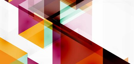 Geometric abstract background, mosaic triangle and hexagon shapes. Trendy abstract layout template for business or technology presentation, internet poster or web brochure cover, wallpaper Ilustracja