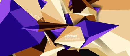 Trendy simple triangle abstract background, dynamic motion concept. Vector Illustration For Wallpaper, Banner, Background, Card, Book Illustration, landing page Çizim