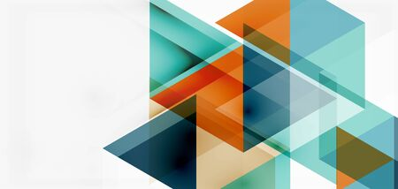 Geometric abstract background, mosaic triangle and hexagon shapes. Trendy abstract layout template for business or technology presentation, internet poster or web brochure cover, wallpaper Иллюстрация
