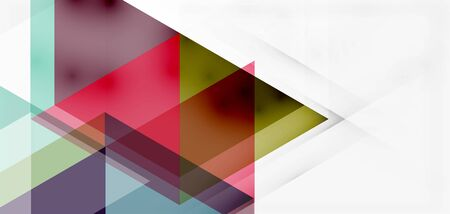 Geometric abstract background, mosaic triangle and hexagon shapes. Trendy abstract layout template for business or technology presentation, internet poster or web brochure cover, wallpaper Çizim