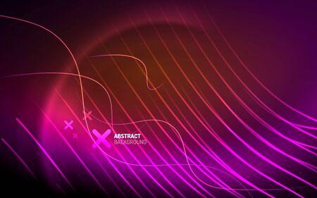Abstract background - neon line design for Wallpaper, Banner, Background, Card, Book Illustration, landing page Ilustração