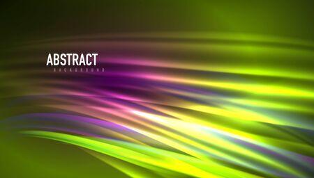 Fluid wave lines background. Trendy abstract layout template for business or technology presentation, internet poster or web brochure cover, wallpaper Ilustração