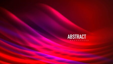 Fluid wave lines background. Trendy abstract layout template for business or technology presentation, internet poster or web brochure cover, wallpaper Ilustracja