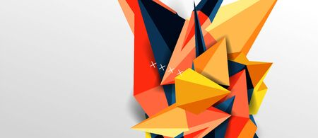 Trendy simple triangle abstract background, dynamic motion concept. Vector Illustration For Wallpaper, Banner, Background, Card, Book Illustration, landing page 일러스트