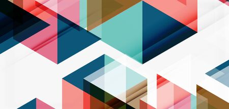 Geometric abstract background, mosaic triangle and hexagon shapes. Trendy abstract layout template for business or technology presentation, internet poster or web brochure cover, wallpaper 일러스트