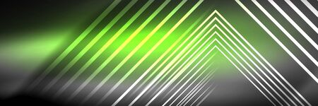 Shiny neon glowing techno lines, hi-tech futuristic abstract background template with square shapes 版權商用圖片 - 147588156