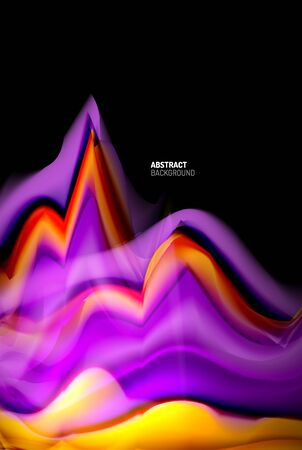 Liquid gradients abstract background, color wave pattern poster design for Wallpaper, Banner, Background, Card, Book Illustration, landing page 免版税图像 - 147755459