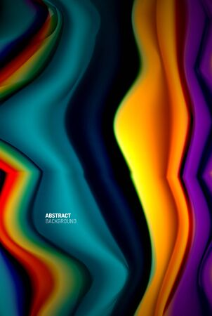 Liquid gradients abstract background, color wave pattern poster design for Wallpaper, Banner, Background, Card, Book Illustration, landing page 免版税图像 - 147755008