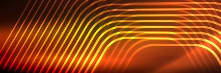 Shiny neon lines, stripes and waves, technology abstract background. Trendy abstract layout template for business or technology presentation, internet poster or web brochure cover, wallpaper 免版税图像 - 147755543