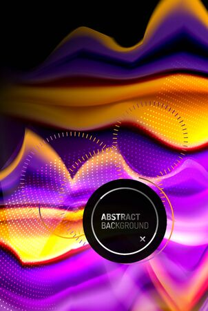 Liquid gradients abstract background, color wave pattern poster design for Wallpaper, Banner, Background, Card, Book Illustration, landing page 免版税图像 - 147755465