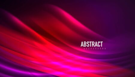 Fluid wave lines background. Trendy abstract layout template for business or technology presentation, internet poster or web brochure cover, wallpaper 免版税图像 - 147755146