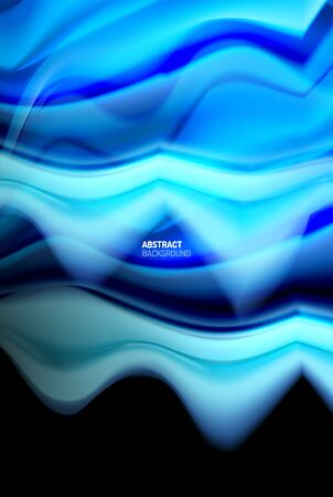 Liquid gradients abstract background, color wave pattern poster design for Wallpaper, Banner, Background, Card, Book Illustration, landing page 免版税图像 - 147755633