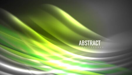 Creative fluid wave lines abstract background. Trendy abstract layout template for business or technology presentation, internet poster or web brochure cover, wallpaper 免版税图像 - 147758184