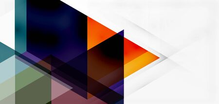 Geometric abstract background, mosaic triangle and hexagon shapes. Trendy abstract layout template for business or technology presentation, internet poster or web brochure cover, wallpaper Zdjęcie Seryjne - 147824527