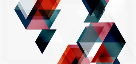 Geometric abstract background, mosaic triangle and hexagon shapes. Trendy abstract layout template for business or technology presentation, internet poster or web brochure cover, wallpaper Zdjęcie Seryjne - 147825102