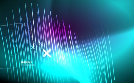 Abstract background - neon line design for Wallpaper, Banner, Background, Card, Book Illustration, landing page 向量圖像