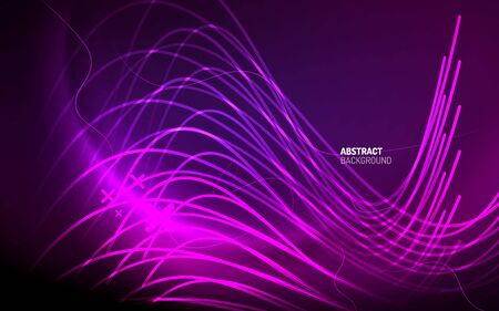 Abstract background - neon line design for Wallpaper, Banner, Background, Card, Book Illustration, landing page Ilustração
