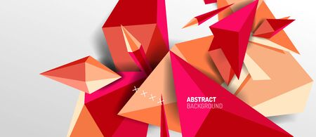 Trendy simple triangle abstract background, dynamic motion concept. Vector Illustration For Wallpaper, Banner, Background, Card, Book Illustration, landing page Ilustracja