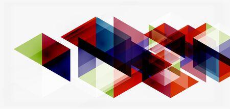 Abstrait géométrique, triangle en mosaïque et formes hexagonales. Modèle de mise en page abstraite à la mode pour une présentation d'entreprise ou de technologie, une affiche Internet ou une couverture de brochure Web, un fond d'écran Vecteurs