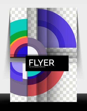 Circle design a4 flyer print template, annual report design