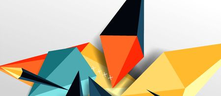 Trendy simple triangle abstract background, dynamic motion concept. Vector Illustration For Wallpaper, Banner, Background, Card, Book Illustration, landing page Ilustração