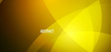 Shiny yellow waves abstract background. Trendy abstract layout template for business or technology presentation, internet poster or web brochure cover, wallpaper
