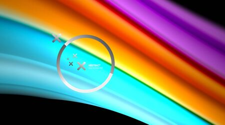Swirl, curve blurred color lines, holographic rainbow liquid style gradient waves for Wallpaper, Banner, Background, Card, Book Illustration, landing page