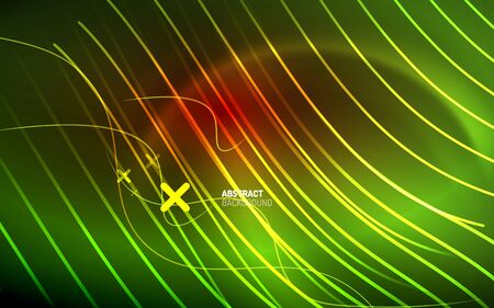 Abstract background - neon line design for Wallpaper, Banner, Background, Card, Book Illustration, landing page Illustration